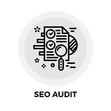 SEO Audit Line Icon Royalty Free Stock Photo