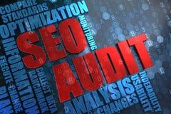 SEO Audit -  Wordcloud Concept. Stock Photos