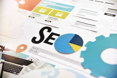 SEO banner concept design Stock Images