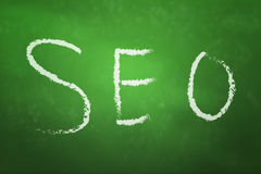 Seo on blackboard Royalty Free Stock Photography