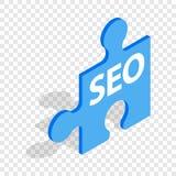 SEO blue puzzle isometric icon Royalty Free Stock Photography