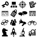 SEO Business Icon Set Stock Photo