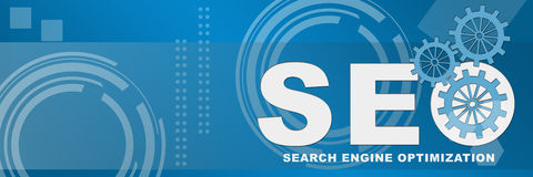SEO Business Style Background Banner Fotografía de archivo