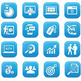 SEO buttons,Blue version Stock Photography