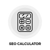 SEO Calculator Line Icon Photo libre de droits