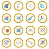 Seo 16 cartoon icon circle. Cartoon isolated illustration stock illustration