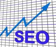 SEO Chart Graph Search Engine-Optimalisering Stock Foto's