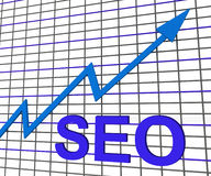 SEO Chart Graph Search Engine-Optimierung Stockfotos