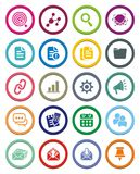 SEO Circle Icon Sets Royalty Free Stock Photos