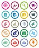 SEO circle icon sets Royalty Free Stock Photos