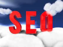 Seo cloudscape Royalty Free Stock Image