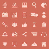 SEO color icons on orange background Stock Photos