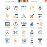 SEO Colorful Icon Set 04 Stockfoto
