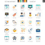 SEO Colorful Icon Set 01 royalty illustrazione gratis