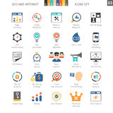 SEO Colorful Icon Set 03 illustrazione di stock