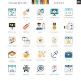 SEO Colorful Icon Set 01 Stock Photos