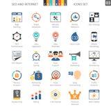 SEO Colorful Icon Set 03 Stock Photos