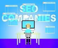 Seo Companies Means Search Engines e commerci illustrazione di stock