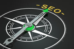 SEO compass concept, 3D. Rendering Stock Photo