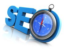 Seo compass Royalty Free Stock Photos
