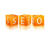 SEO composed from cubes Stock Image