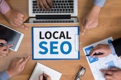SEO Concep local Imagem de Stock