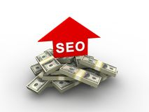 SEO concept. In 3D style Royalty Free Stock Photos
