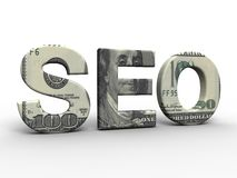 SEO concept. In 3D style Royalty Free Stock Images