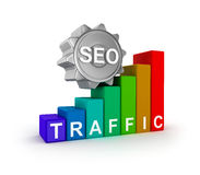 SEO concept with colorful graph. Royalty Free Stock Image