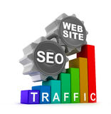 SEO concept with colorful graph Royalty Free Stock Images