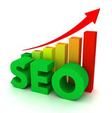 Seo concept 3d illustration Royalty Free Stock Photography