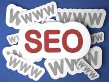 SEO. Concept d'Internet. Photos stock