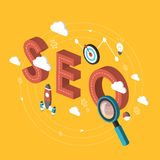 SEO concept 3d isometric infographic Royalty Free Stock Photos