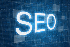 SEO concept on digital background Royalty Free Stock Image