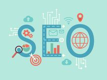 SEO concept flat illustration Stock Photography