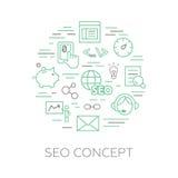 SEO concept made of pictograms Stock Photo