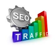 SEO-concept met kleurrijke grafiek Royalty-vrije Stock Afbeelding