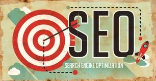 SEO Concept. Plakat im flachen Design. Lizenzfreie Stockfotografie