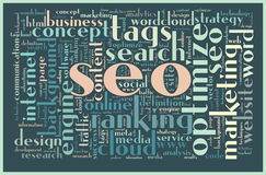 SEO concept tag cloud Royalty Free Stock Photos