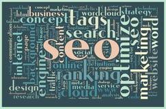 SEO concept tag cloud Royalty Free Stock Photos