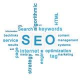 SEO - concepto de la optimización del Search Engine ilustración del vector