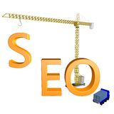 SEO Construction royaltyfri illustrationer