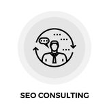 SEO Consulting Line Icon. SEO Consulting icon vector. Flat icon isolated on the white background. Editable EPS file. Vector illustration Stock Photos