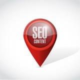 Seo content locator pointer illustration design Royalty Free Stock Photos