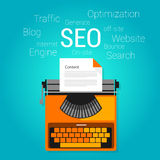 Seo content marketing strategy concept search engine optimization Royalty Free Stock Photography