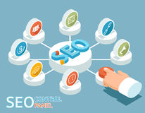 SEO control panel concept Royalty Free Stock Image
