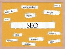 SEO Corkboard Word Concept Stock Fotografie