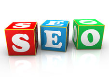 SEO Cubes Stock Images