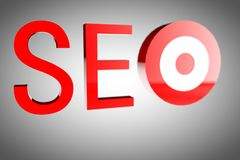 SEO 3d royalty free stock images