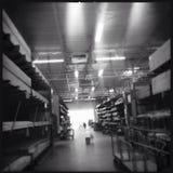 Seção da madeira serrada de Home Depot Foto de Stock